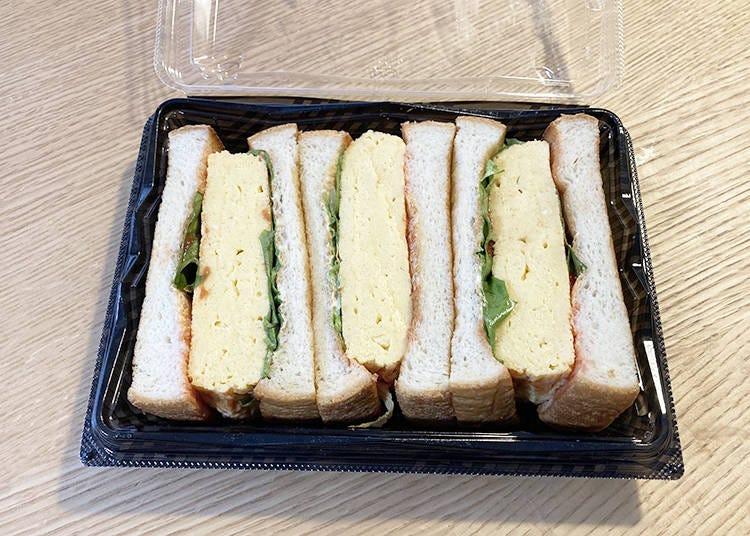 3.分厚い卵焼きをパンで挟んだ関西風卵サンド「たまご好きのたまらんサンド」