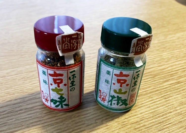 6.使用天然的食材,京都的調味料代表之一。一休堂「京七味」&「京山椒」