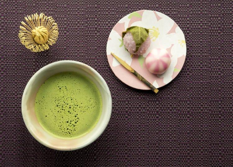 9)菓子・抹茶