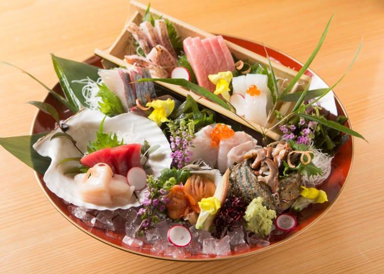 3.漁港から直送される鮮魚をお造りや炉端焼きで!「炉端・すし・魚鍋 一鱗」