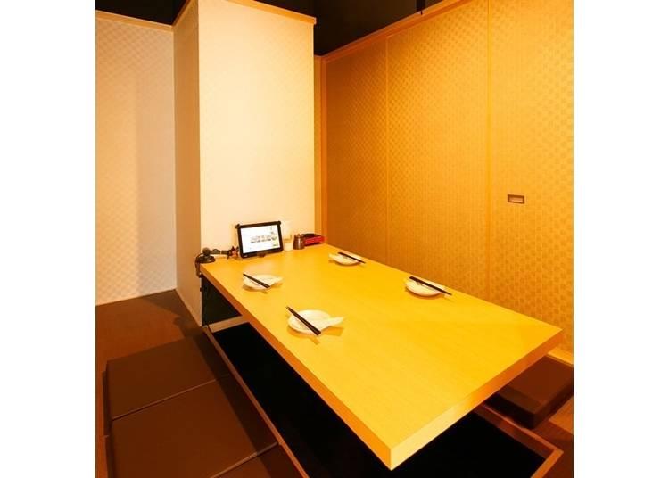 完全個室はさまざまなタイプがあり、利用しやすい!