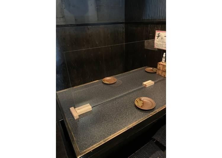 看得到京都塔的包廂,同時具備多種選擇