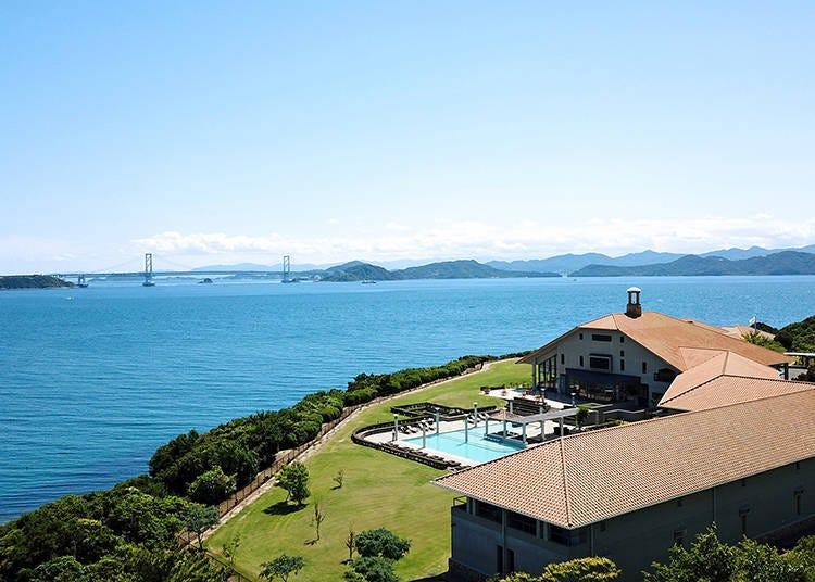 4.豊かな自然と鳴門海峡の壮大な眺めが楽しめる海辺のリゾートホテル「ホテルアナガ」
