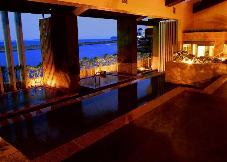 3. 세 가지 온천시설을 두루 즐길 수 있는 '호텔 뉴아와지'에서 힐링을 누리자