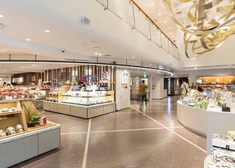 【1F・B1F】교토 타워 산도②: 선물 쇼핑과 가벼운 한 잔도 즐겨보자!