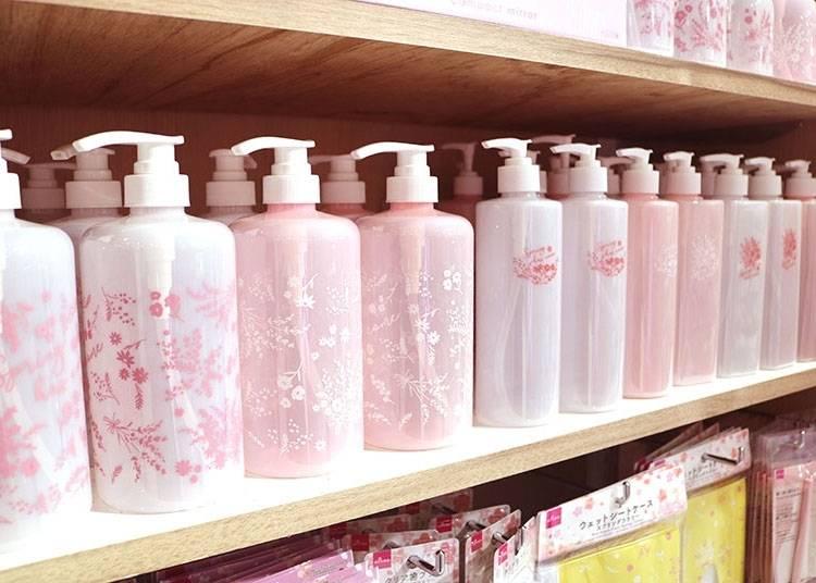 【その4】春らしい桜色のボトル「ポンプボトル フラワー」