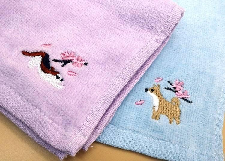洗手後必備商品「刺繡手帕  貓、狗」