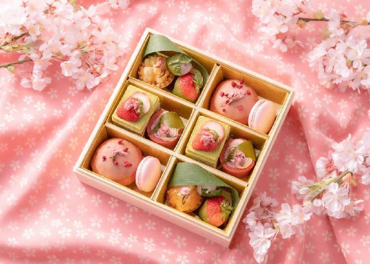 InterContinental Osaka: A hanami dessert box filled with cherry blossoms and seasonal fruits