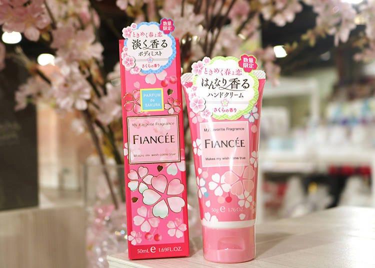 【商品7】甜甜香氣很受學生歡迎的「FIANCEE 櫻花香系列」