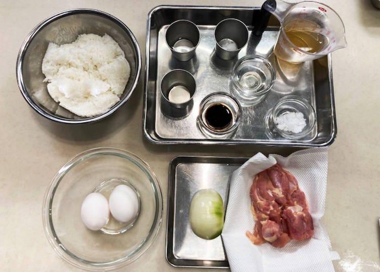 Oyakodon Ingredients (Serves Two)