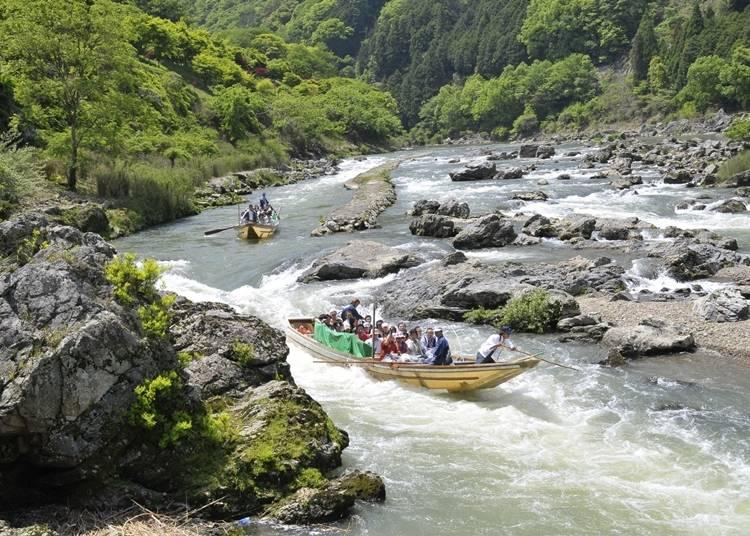 7.自然美とスリルを満喫する「保津川下り」