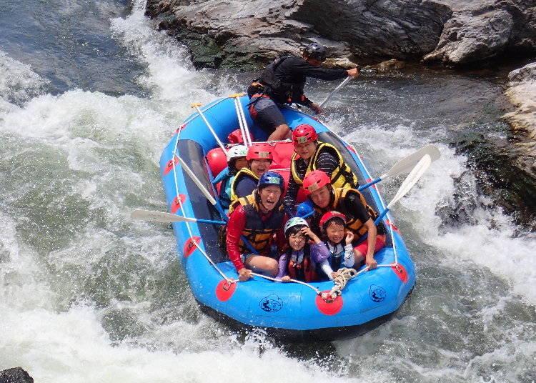 1. Rafting on the Hozu River (Kyoto)