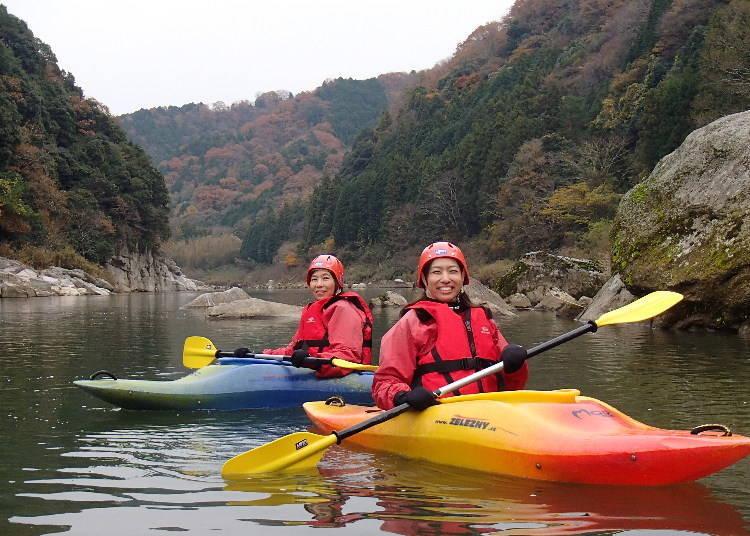 2. Canoeing and kayaking on the Kizu River (Kyoto)