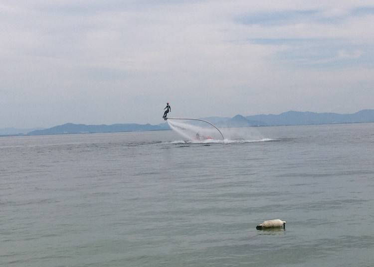 5. Fly board at Lake Biwa (Shiga)