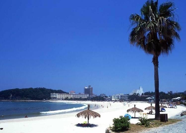 2.充滿熱帶風情的渡假勝地~白良濱(和歌山)