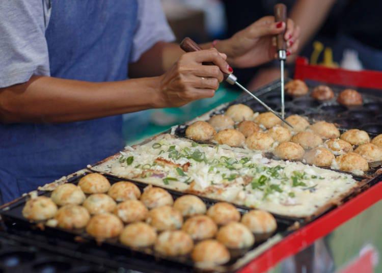 1. Takoyaki: Very popular for its texture