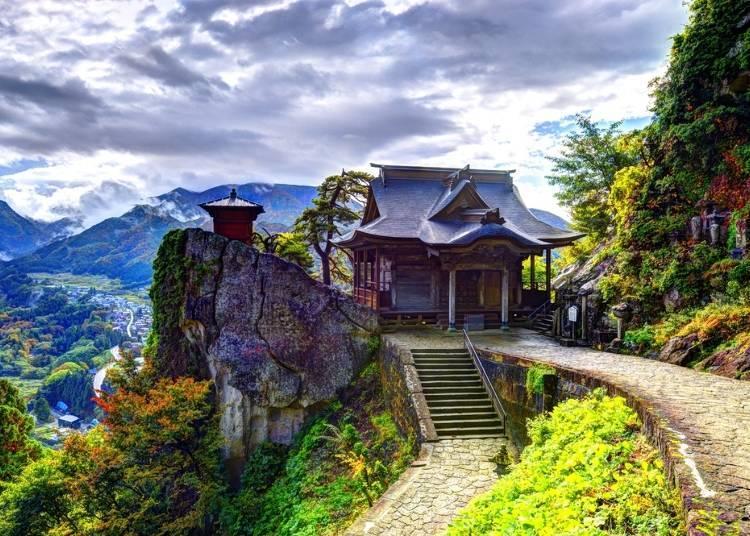 1. Enjoy the spectacular view at Yamadera Temple (Hojusan Risshakuji)