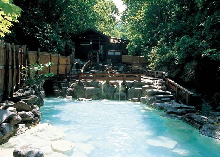13. Soak in the hot waters of Zao Onsen
