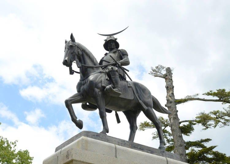 1.仙台城跡から仙台の街並みを一望する