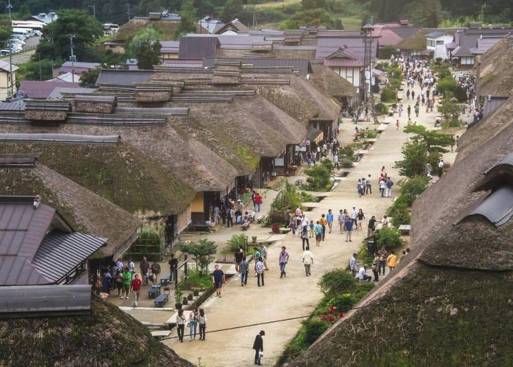 2.「大内宿」で江戸時代の雰囲気を楽しむ