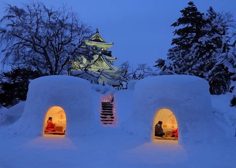 4.雪国の伝統行事「かまくら」を見に行く