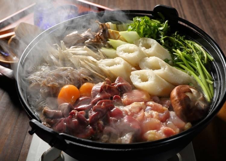 14.きりたんぽ鍋を食べる