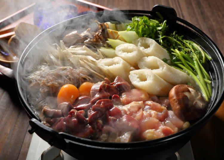 1.烤米棒锅(きりたんぽ鍋)