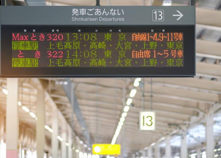 從東京到新潟的上越新幹線:車程、票價