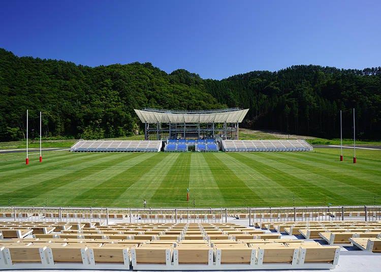 「釜石鹈住居复兴体育场」位在什么样的地方呢?