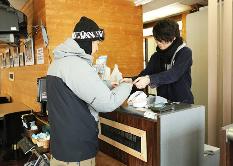 Applying for a Snowcat at Miyagi Zao Sumikawa Snow Park