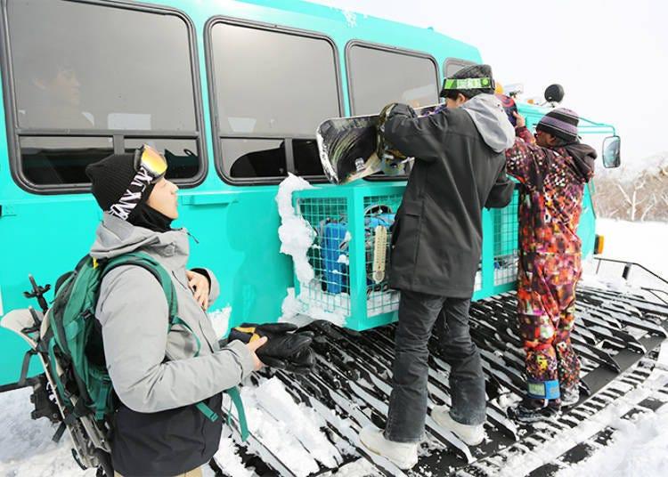 Getting on the Snowcat