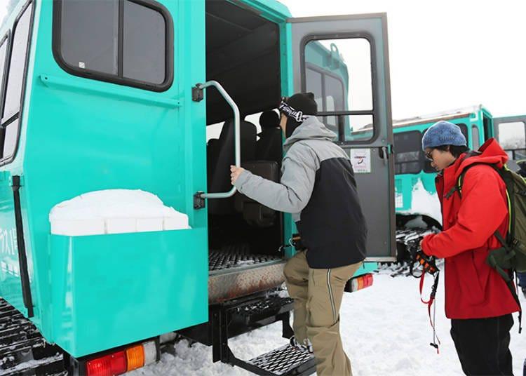 宮城藏王SUMIKAWA Snow Park雪上車導覽行程②出發!
