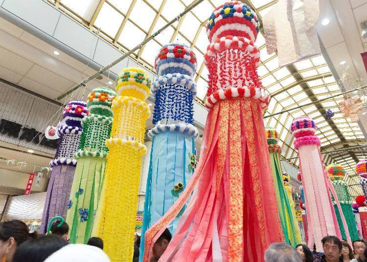 7. Sendai Tanabata Festival (August 6~8 every year)