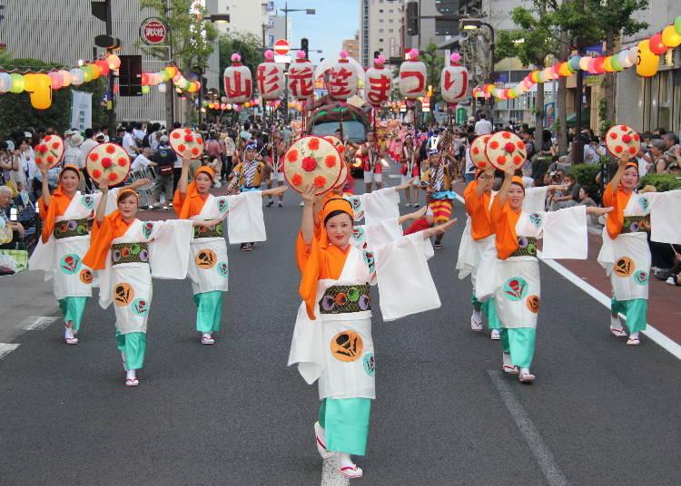 9. Yamagata Hanagasa Festival (August 5~7 every year)