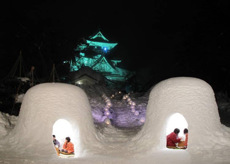 5.요코테의 유키마츠리(가마쿠라) (매년 2월 15일~16일)