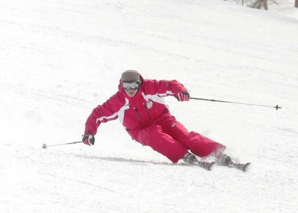 「天元台高原」内魅力无限的长距离滑竞滑雪道