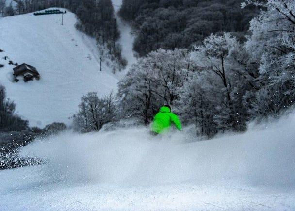 丰富积雪量的完美粉雪天堂「星野度假村 猫魔滑雪场」