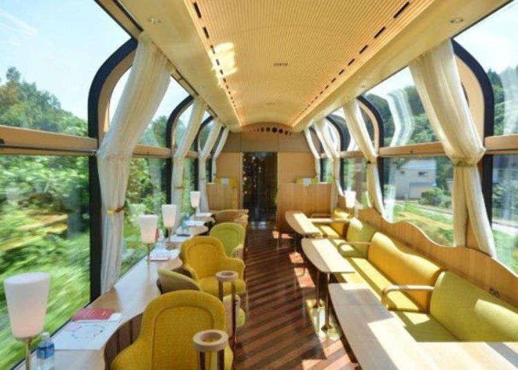 搭上豪华观光列车「雪月花」享受新泻绝景与美食~奢华3小时慢游之旅!
