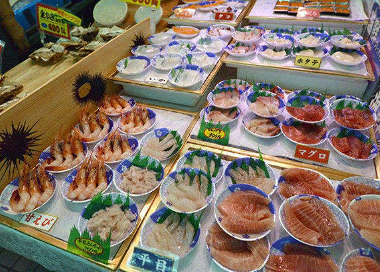 아오모리에서 신선한 해산물을 먹으려면 이곳! '핫쇼쿠 센터'에서 놋케동과 하마야키를 배불리 먹어 보자!