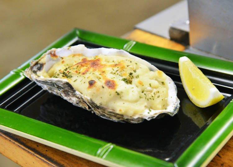 牡蠣グラタンやかき汁も絶品