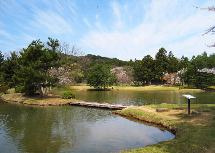 4. Kanjizaiō-in Temple Site: Founded by Motohiko's wife