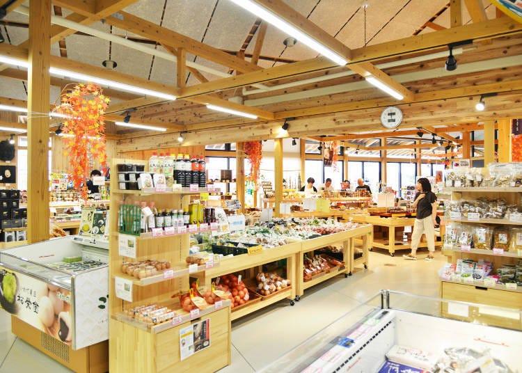 다양한 선물용 상품들로 한가득'미치노에키 히라이즈미'