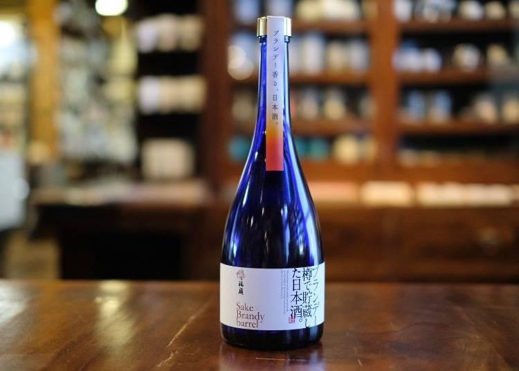 清酒博物館的推薦酒③用白蘭地木桶貯藏的日本酒「FUKUGAO」