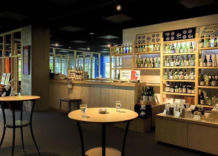 「山形酒のミュージアム&湯けむり屋台つまみ」で利き酒(所要時間:約1時間)