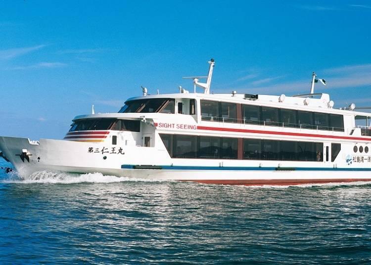 1. 搭乘「松島遊島觀光船」巡遊島嶼