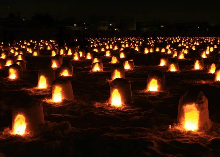【秋田】夜晚的雪屋燭光最暖心-橫手雪屋