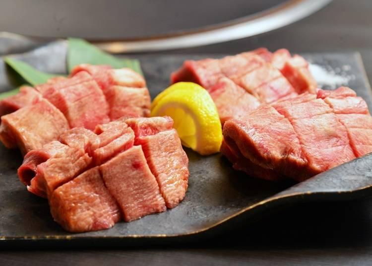 1.良質な厚切り牛タンはとってもジューシー「仙台牛タン居酒屋 牛タン食べ放題 ここや」