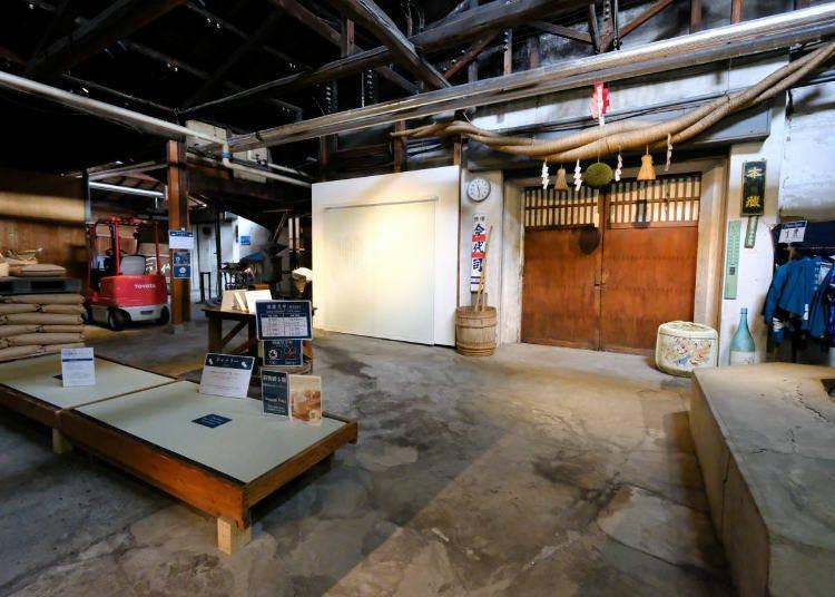 參觀「今代司酒造」酒窖,學習造酒的過程吧!