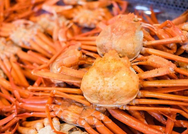Marine Dream Nou: Sample Succulent Niigata Red Snow Crab at This Giant Crab Market!