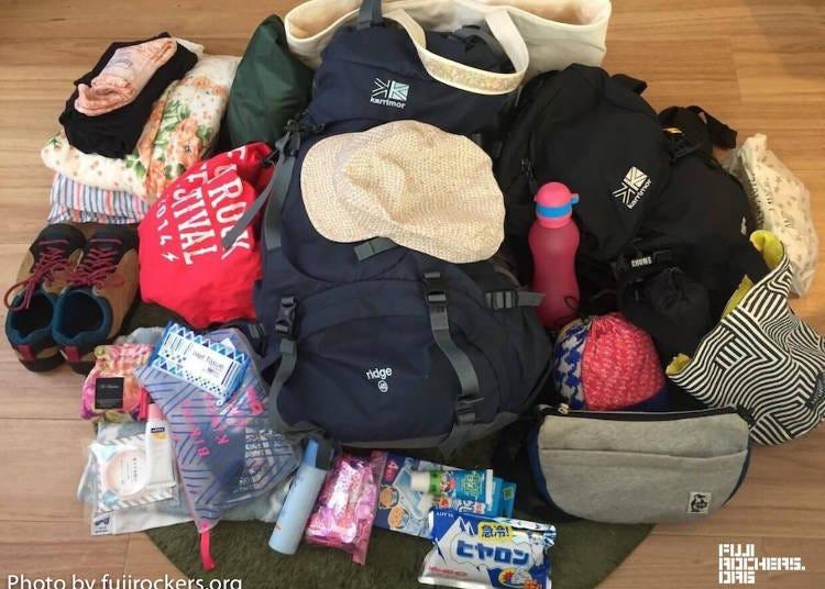 2. Pack carefully for Fuji Rock